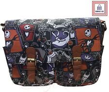 The Nightmare Before Christmas Jack Skellington Satchel Messenger Oilcloth Bag