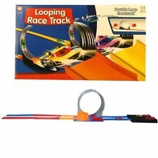 KIDS CHILDRENS DOUBLE LOOP LOOPING RACE CAR TRACK RACING TOY WITH 2 CARS GIFT