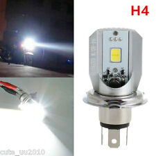Hi/Lo Beam H4 Motorcycle Headlight 6W COB LED Front Light Bulb Lamp12v 130lm 2Pc