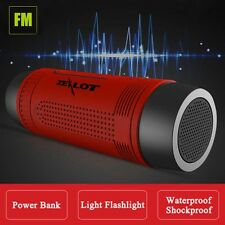 Muti-Function Outdoor Bluetooth Stereo Portable Speaker 4000mAh FM Power Bank FT