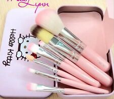 Pro Hello Kitty Makeup Cosmetic Brush 7PCS Set Kit Iron Metal Box Cute Gift New