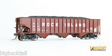 "Tangent ROCK ISLAND ""Original Red 1957"" 3-Bay Hopper Cars  NIB  RTR"