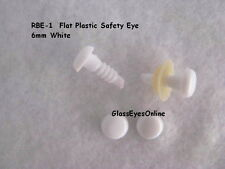 20 PAIR 6mm or 8mm Safety Eyes No Pupil, Doll, Teddy bear, Sew Crochet RBE-1