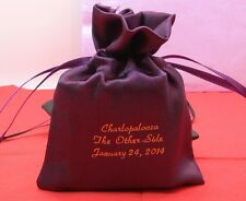500 personalized satin bags wedding favors bridal shower treat bags custom made