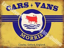 Morris Old Classic Car Badge, 112 Vintage Garage, Spares, Small Metal/Tin Sign