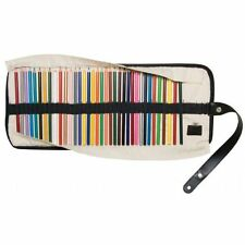 Colored Pencil Storage Case Roll Up Canvas Holds 36 Organizer Pen Pencils