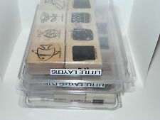Stampin Up Lot of 3 Set - Little Layers I II & Plus (total 24 Stamps)