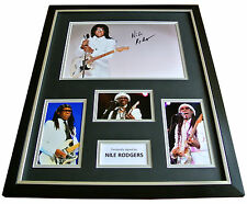NILE RODGERS Signed FRAMED Huge Photo Autograph Display Chic Le Freak Music COA