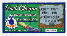 Original Vintage UK National Lottery Scratch Card Camelot Cash Cheque 1997