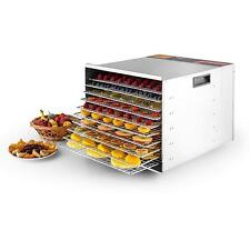 New 10 Tray Commercial Stainless Steel Food Fruit Jerky Dryer Blower Dehydrator