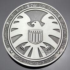 Men Vintage Silver Agents Of Shield S.H.I.E.L.D. Eagle Superhero Belt Buckle W8