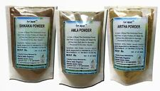 Amla Aritha Shikakai Powder Combo Pack 100 gms x 3  100% Original and Natural
