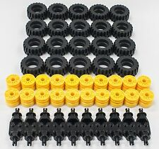 ☀️NEW! Lego 30.4 X 14 Tire, Wheel and Technic Axles Bulk Lot - 50 Pieces Total