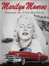 Marilyn Monroe Cadillac, Classic/Vintage American Car Large Metal/Tin Sign