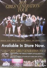 "GIRLS GENERATION ""2011 TOUR AVAILABLE IN STORE NOW"" ASIAN PROMO POSTER - K-Pop"