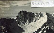 photo ancienne.Mont-Blanc . les Grandes Jorasses . glacier  .1937
