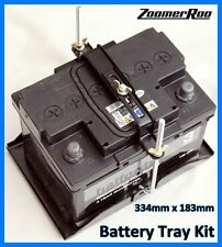 Universal Battery Tray Kit - Adjustable Hold Down Kit 334mm x 183mm (H)