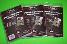 300 4X6 PHOTO SLEEVES-CRYSTAL CLEAR-ARCHIVAL SAFE-ACID FREE-2 MIL THICK- BY BCW