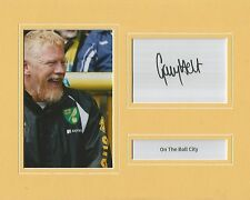 A 10 x 8 inch mounted display signed by Gary Holt when at Norwich City.