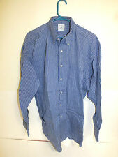 Brooks brothers long sleeve shirt button front  large non smoker (free wrinkles)