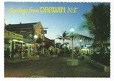 NT - c1970s POSTCARD - SMITH STREET MALL AT DUSK, DARWIN, NORTHERN TERRITORY