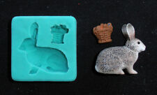 Silicone Mould EASTER RABBIT RECUMBENT Sugarcraft Cake Decorating Fondant / fimo
