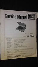 Technics sl-1300 service manual original repair stereo turntable Panasonic