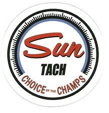 SUN TACH CHOICE OF CHAMPS DRAG RACING Sticker  Decal