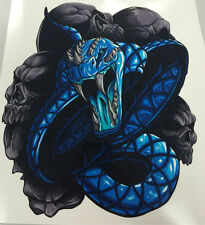 Kawasaki Ninja ZX12R ZX10R ZX9R ZX7R ZX6R 650 1000 250R 300 Blue Snake Decal