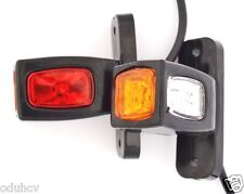 2 Red White Amber Side Rear Marker LED Lights Outline Lamps Truck Lorry Trailer