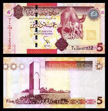 LIBYA 5  DINAR 2012 UNC P.72 PREFIX 7A - DE LA RUE PRINT