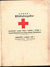 CROCE ROSSA CROIX ROUGE ETHIOPIENNE ETHIOPIE POCHETTE-FICHE D'ÉVACUATION 1-57