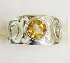 Citrine Ring in 925 Sterling Silver size 6