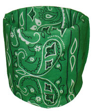 Kelly Green Paisley Balaclava Face Mask Magic Scarf Multi Function Headwear
