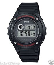 W-216H-1A Black Resin Band Digital 5 Alarms 7-Year Battery Life Men's Casio 50m