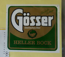 VINTAGE GERMAN BEER LABEL - GOSSER, HELLER BOCK