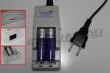 2 PILES ACCUS RECHARGEABLE 18650 3.7V 2400mAh + CHARGEUR TR-001 TRUSTFIRE