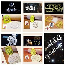 R2d2 Chewbacca Darth Vader Storm Trooper Star Wars Bb8 Decoración Pasteles Cortador De Galletas