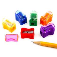 Bulk Plastic Pencil Sharpener With Cap Assortment Colors (6 dz or 72pcs) School