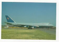 United Airlines Boeing 747-222B Aviation Postcard, A654a