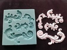Silicone Mould VINTAGE BAROQUE ORNAMENTS 2 Sugarcraft Cake Decorating Fondant