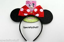 NEW DISNEY MINNIE MOUSE RED BOW-TIQUE EAR SHAPED HEADBAND HAIR HEAD BAND (RP)