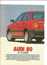 ESSAI ARTICLE PRESSE REPORTAGE 1984 AUDI 80 10 PAGES