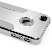 Apple iPhone 5 5S Cover Alu Hard Case Schutz Hülle Metall Bumper Chrom Aluminium