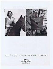 PUBLICITE ADVERTISING 094 1990 LONGCHAMP sacs et bagages