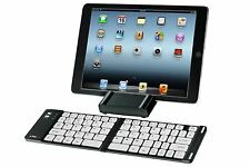 Proper Folding Bluetooth Keyboard inc Case/Stand for IOS Android Windows Black