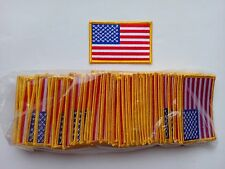 """50 USA American Flag (G) Embroidered Patches 3.5""""x2.25"""""""