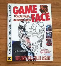 NHL Souvenir Coloring Book - Game Face NHL Hockey Goalie Mask by Russell Field