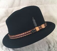 New Bailey Of Hollywood Wool/Cashmere Men's Hat Fedora Lined Small Black
