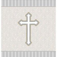 Creative Converting Devotion Cross Plastic Banquet Table Cover 54 x 108